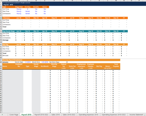 End Of Period Spreadsheet Template For Financial Projection Template  Download Free Excel Template