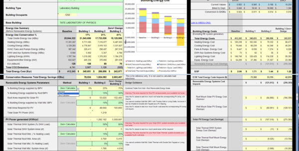 Energy Savings Calculator Spreadsheet Throughout Salovich Zero Plus Campus Design Project  College Of Design Energy Savings Calculator Spreadsheet Printable Spreadsheet