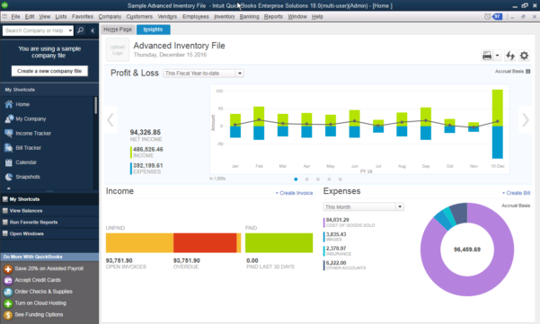 Enterprise Users Use Spreadsheet Database And Accounting Software Throughout Quickbooks Enterprise  Accounting Software  2019 Reviews, Pricing