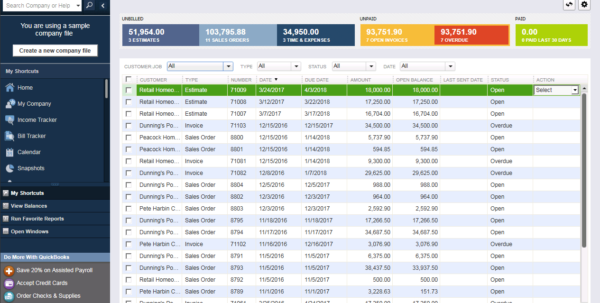 Enterprise Users Use Spreadsheet Database And Accounting Software With Quickbooks Enterprise  Accounting Software  2019 Reviews, Pricing