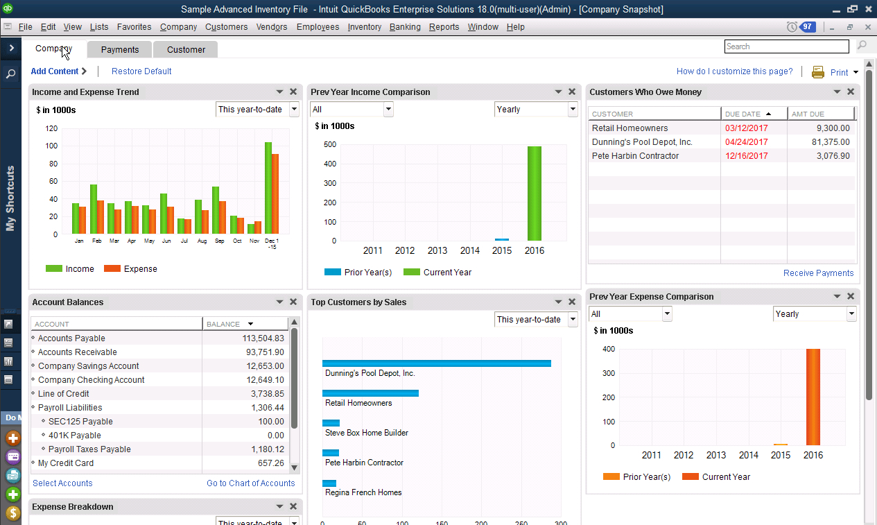 Enterprise Users Use Spreadsheet Database And Accounting Software With Regard To Quickbooks Enterprise  Accounting Software  2019 Reviews, Pricing