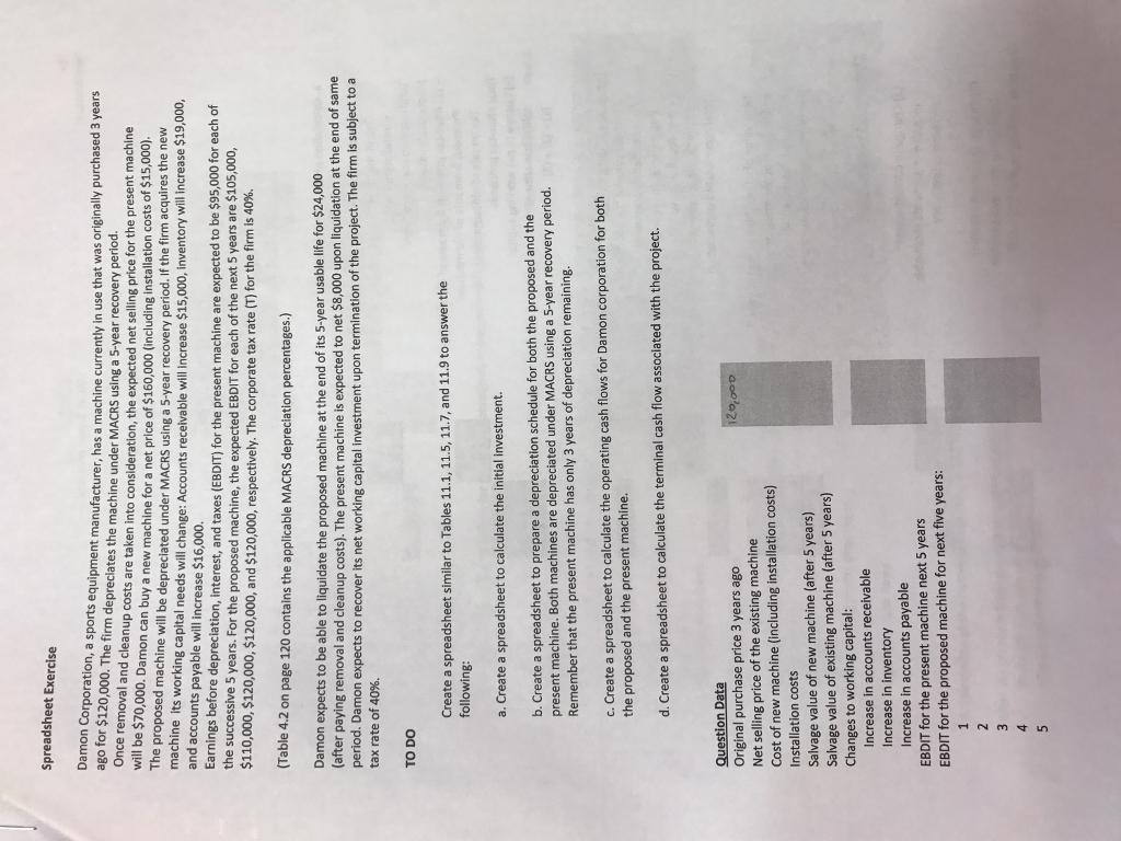 Equipment Cost Calculator Spreadsheet Inside Solved: Spreadsheet Exercise Damon Corporation, A Sports E
