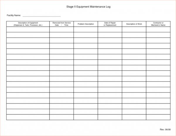 Equipment Maintenance Spreadsheet For Preventive Maintenance Spreadsheet Excel Download Template Invoice