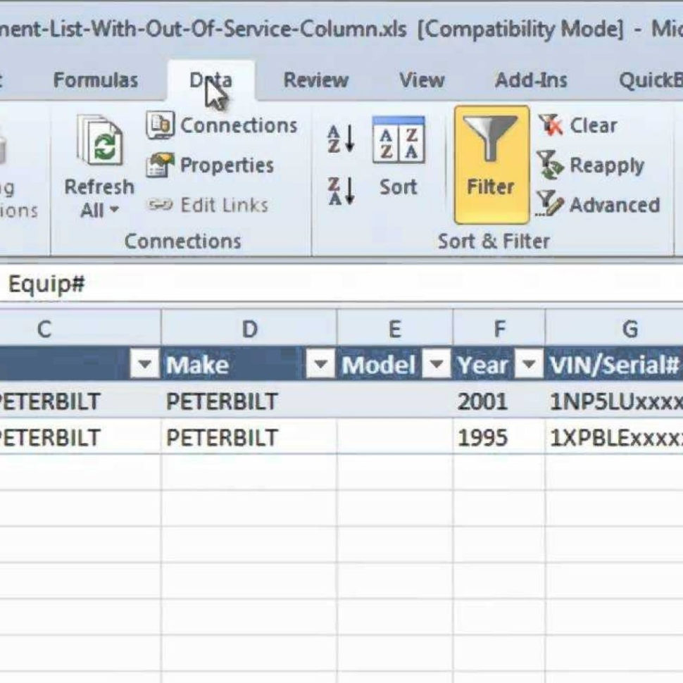 Equipment Maintenance Spreadsheet Inside Preventive Maintenance Spreadsheet Software Equipment List With Out