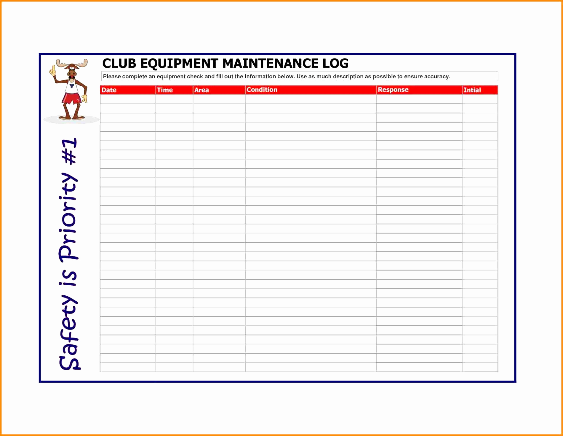Equipment Maintenance Spreadsheet Intended For Fleet Vehicle Maintenance Log Template Fresh Excel Auto Maintenance