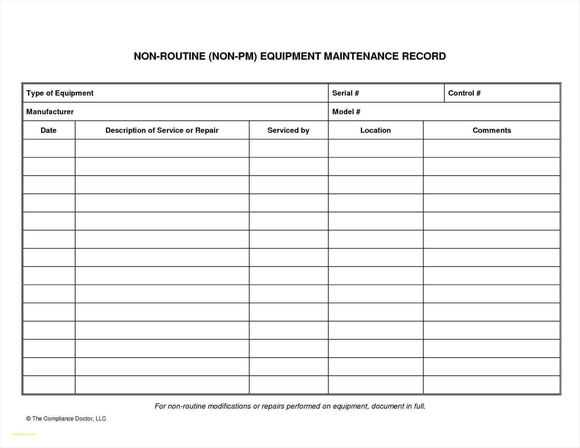 Equipment Maintenance Spreadsheet Throughout Farm Equipment Maintenance Log Spreadsheet  Awal Mula