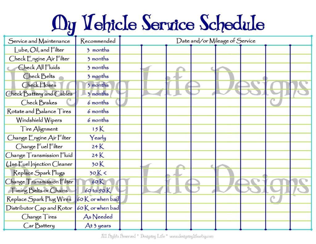 Equipment Maintenance Tracking Spreadsheet Within Maintenance Tracking Spreadsheet Invoice Template Fleet Building