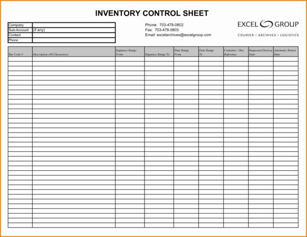Estate Inventory Excel Spreadsheet Throughout 10  Estate Inventory Examples  Pdf