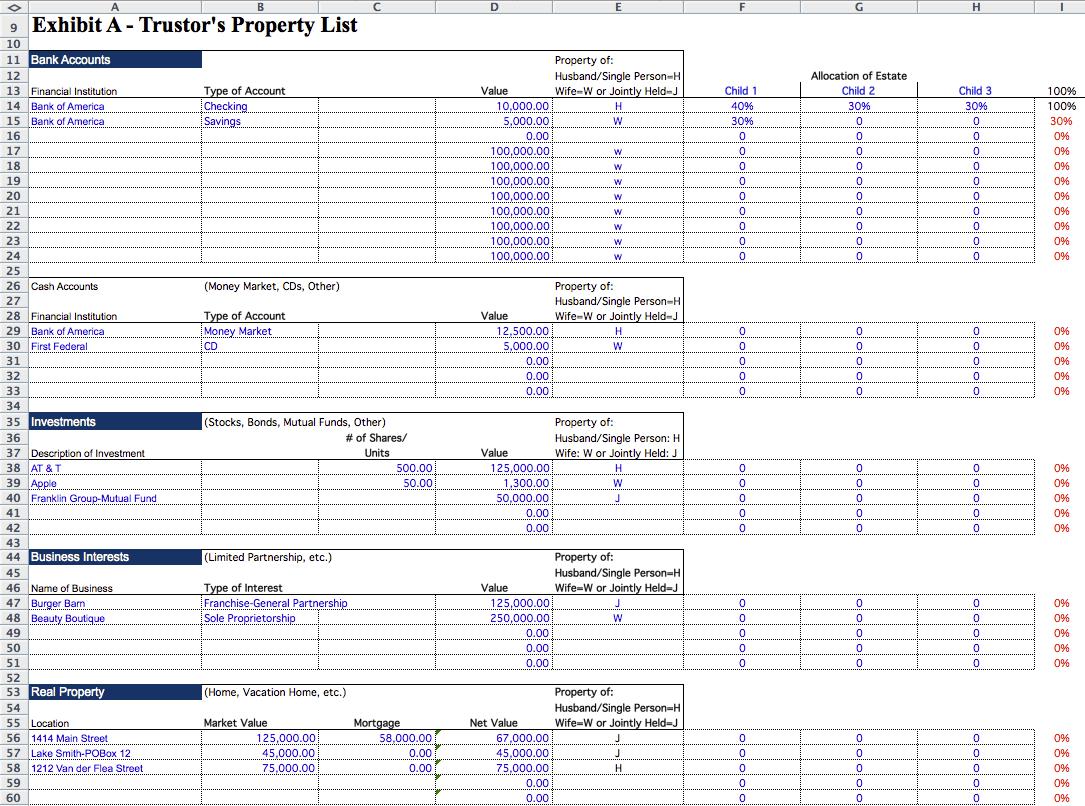 Estate Inventory Spreadsheet Inside Estate Planning Spreadsheet Template Inventory Real Business