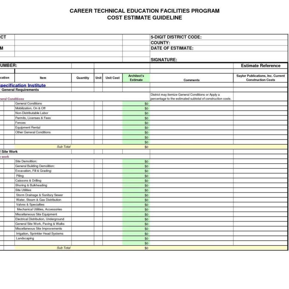 Estimating Spreadsheets Free Download Regarding Estimate Format In Excel Free Download 1  Pulpedagogen Spreadsheet