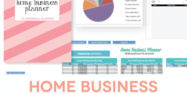 Etsy Spreadsheet Pertaining To Home Business Planner  Etsy