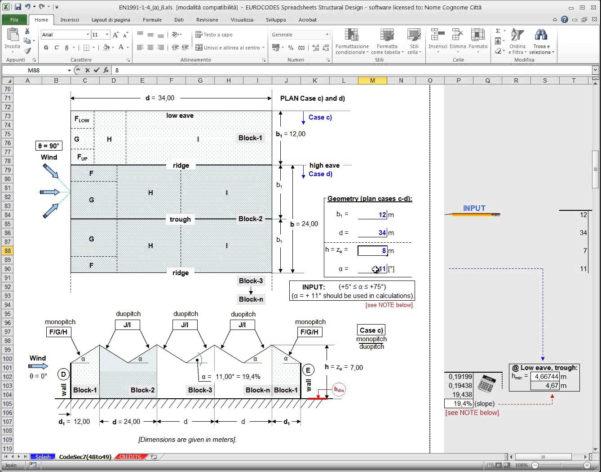 Eurocode Spreadsheets For Example Of Windad Calculation Eurocode Spreadsheet Best Excel Sheet