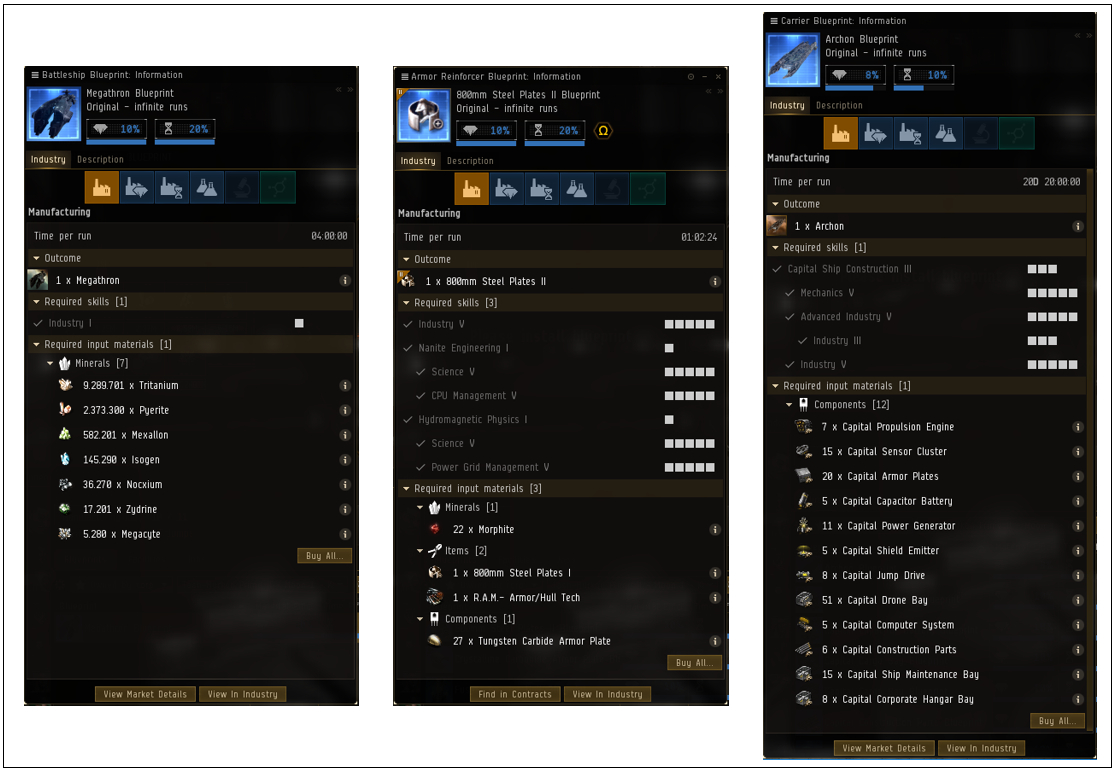Eve T2 Production Spreadsheet In Eve Online Manufacturing Guide  Saarith Gaming