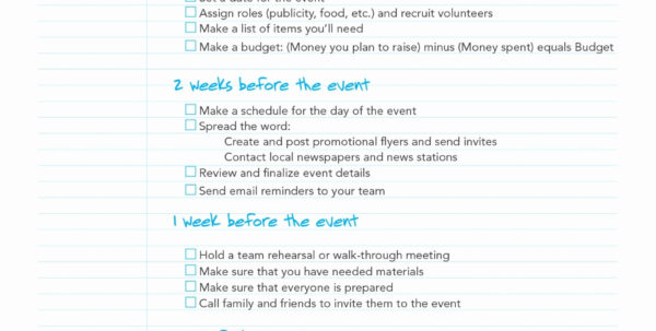 Event Planning Spreadsheet Regarding 019 Birthday Party Checklistplate Excel Inspirational Planning