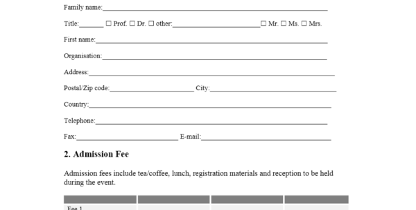 Event Registration Spreadsheet Template With Regard To Event Registration Form