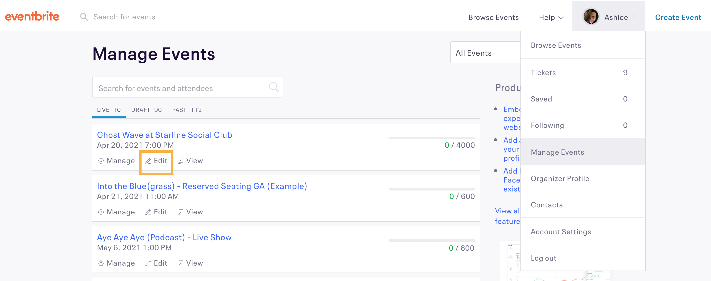 Event Ticket Sales Spreadsheet Template In How To Set And Restrict Your Event's Total Capacity  Eventbrite