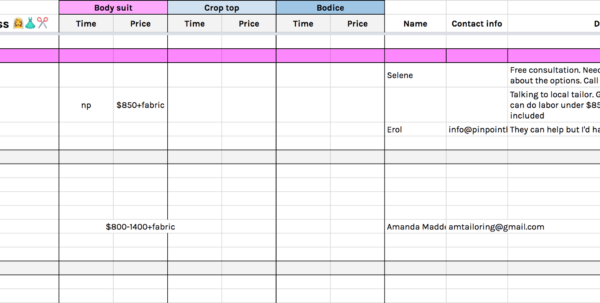 Event Venue Comparison Spreadsheet Intended For Every Spreadsheet You Need To Plan Your Custom Wedding