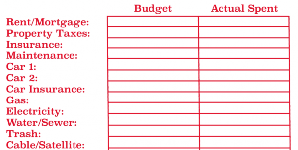 Example Of A Household Budget Spreadsheet With Regard To New Sample Household Budget Worksheet ~ Premium Worksheet