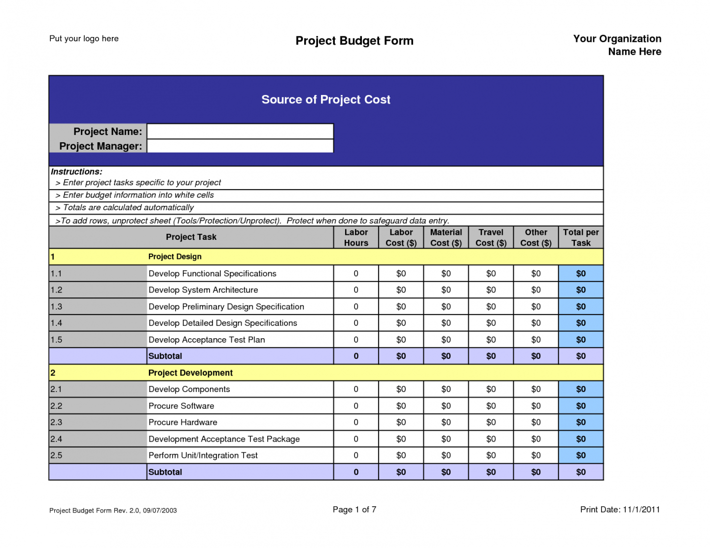 Example Of A Project Budget Spreadsheet For Sample Project Budget Spreadsheet Excel Examples Budgetpreadsheet