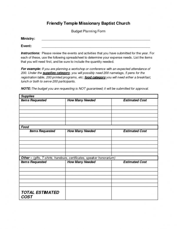 Example Of Church Budget Spreadsheet With Regard To Free Sample Church Budget Spreadsheet Templates Worksheet Template