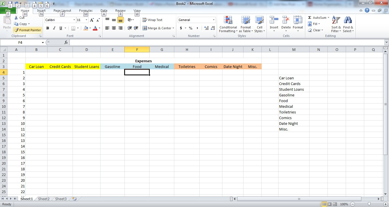 Example Of Excel Spreadsheet For Bills Regarding Expense Example Book Of Example Of Excel Spreadsheet For Bills