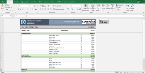 Example Of Monthly Budget Excel Spreadsheet In Monthly Budget Worksheet  Free Budget Template In Excel