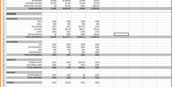 Example Of Spreadsheet For Expenses Regarding Example Spreadsheet Of How To Keep Expenses For Buy To Let And