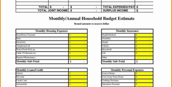 Examples Of Household Budget Spreadsheet Throughout Sheet Example Of Household Budget Worksheet Sample Monthly Template