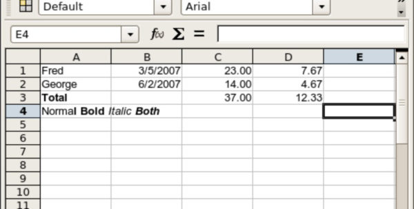 Examples Of Spreadsheet Application Intended For Odf/ooxml Technical White Paper