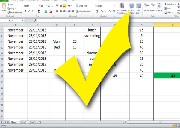 Excel 2010 Budget Spreadsheet Intended For How To Build A Budget Spreadsheet Teenagers: 13 Steps