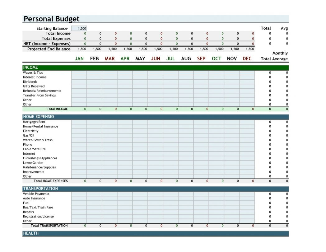 Excel 2010 Budget Spreadsheet Regarding Home Budget Spreadsheet Excel 2010 Best Create Bud Sample Personal
