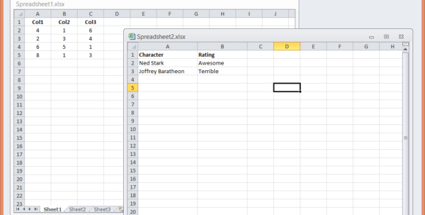 Excel 2010 Spreadsheet With Regard To How To Open Excel 2010 Spreadsheets In A New Window  Matt Refghi