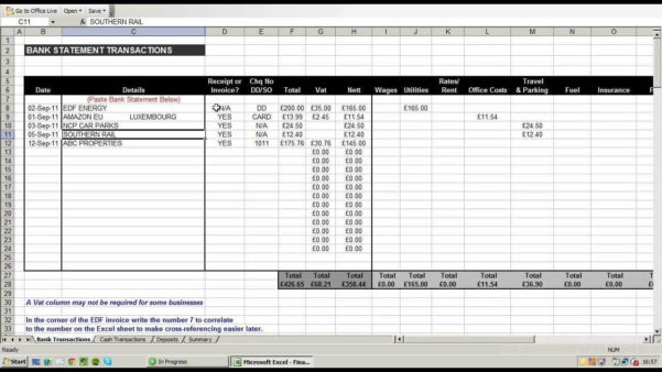 Excel Accounting Spreadsheet For Small Business For Simple Accounting Spreadsheet For Small Business  Pulpedagogen