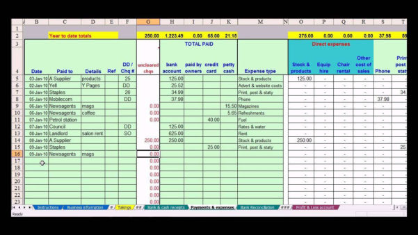 Excel Accounting Spreadsheet For Small Business With Regard To Spreadsheets For Small Business Accounting Spreadsheet Lovely Free