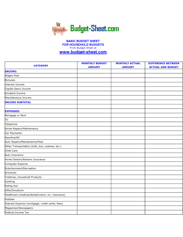 Excel Budget And Expense Spreadsheet Regarding Sheet Expense Template Excel Personal Tracker Templates For Budget