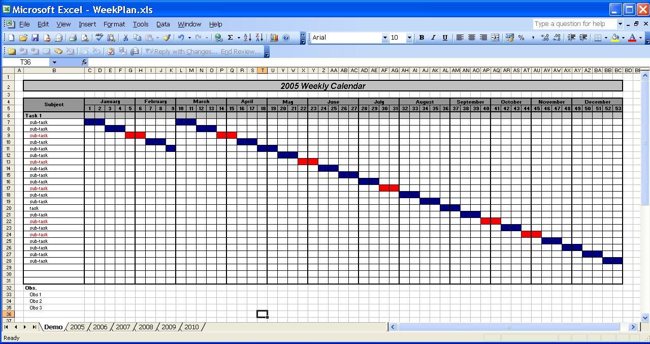 Excel Calendar Spreadsheet Inside Officehelp  Template 00031  Calendar Templates 2005 / 2010