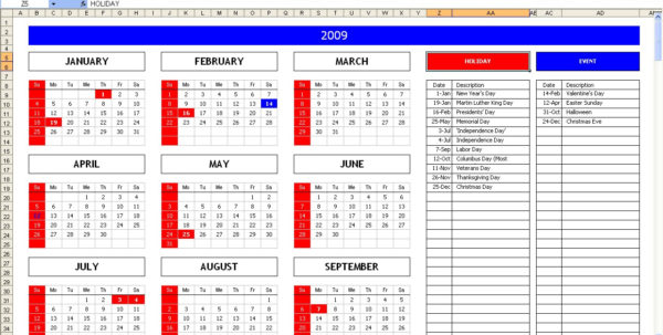 Excel Calendar Spreadsheet Intended For Top 5 Excel Yearly Calendar – Excel Spreadsheet Excel Calendar Spreadsheet Spreadsheet Download