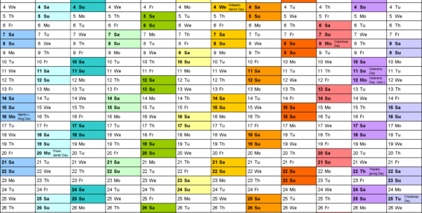Excel Calendar Spreadsheet Pertaining To 2012 Calendar Excel  10 Free Printable Templates Xls/xlsx