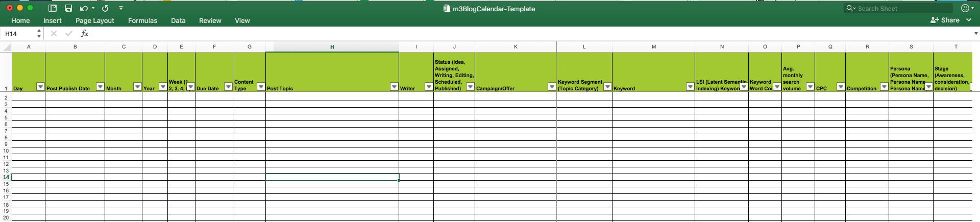 Excel Calendar Spreadsheet Regarding Editorial Calendar Templates For Content Marketing: The Ultimate List