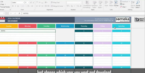 Excel Calendar Spreadsheet Within Excel Calendar Templates  Download Free Printable Excel Template