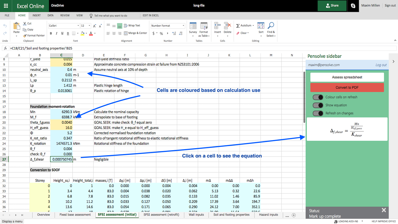 Excel Engineering Spreadsheets Intended For Pensolve  Engineering Spreadsheet Standard