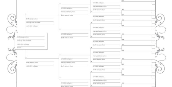 Excel Genealogy Spreadsheet With Regard To 017 Family Tree Templates Excel Template Ideas With Siblings
