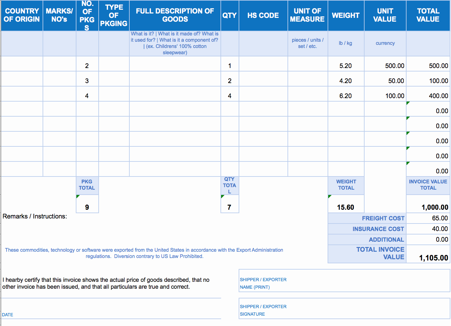 Excel Invoice Spreadsheet In Excel Invoice Template Download Free Excel Invoice Templates