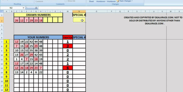 Excel Lottery Spreadsheet Templates Intended For Lottery Spreadsheet Free Powerball Pool Spreads On Winning Numbers Excel Lottery Spreadsheet Templates Printable Spreadsheet