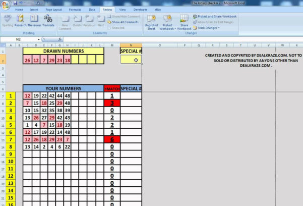 Excel Lottery Spreadsheet With Regard To Lottery Spreadsheet Free Powerball Pool Spreads On Winning Numbers