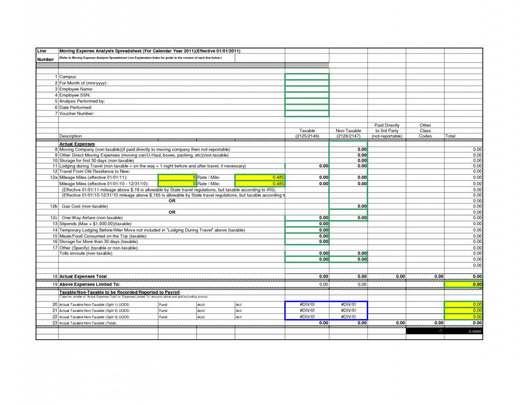 Excel Moving Expense Spreadsheet For 39 Luxury Relocation Expenses Spreadsheet  Project Spreadsheet