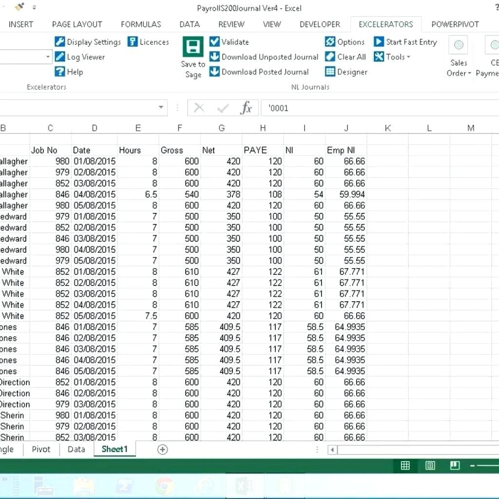 Excel Payroll Spreadsheet Download Within Free Exceloll Spreadsheet Download Templates System Program For