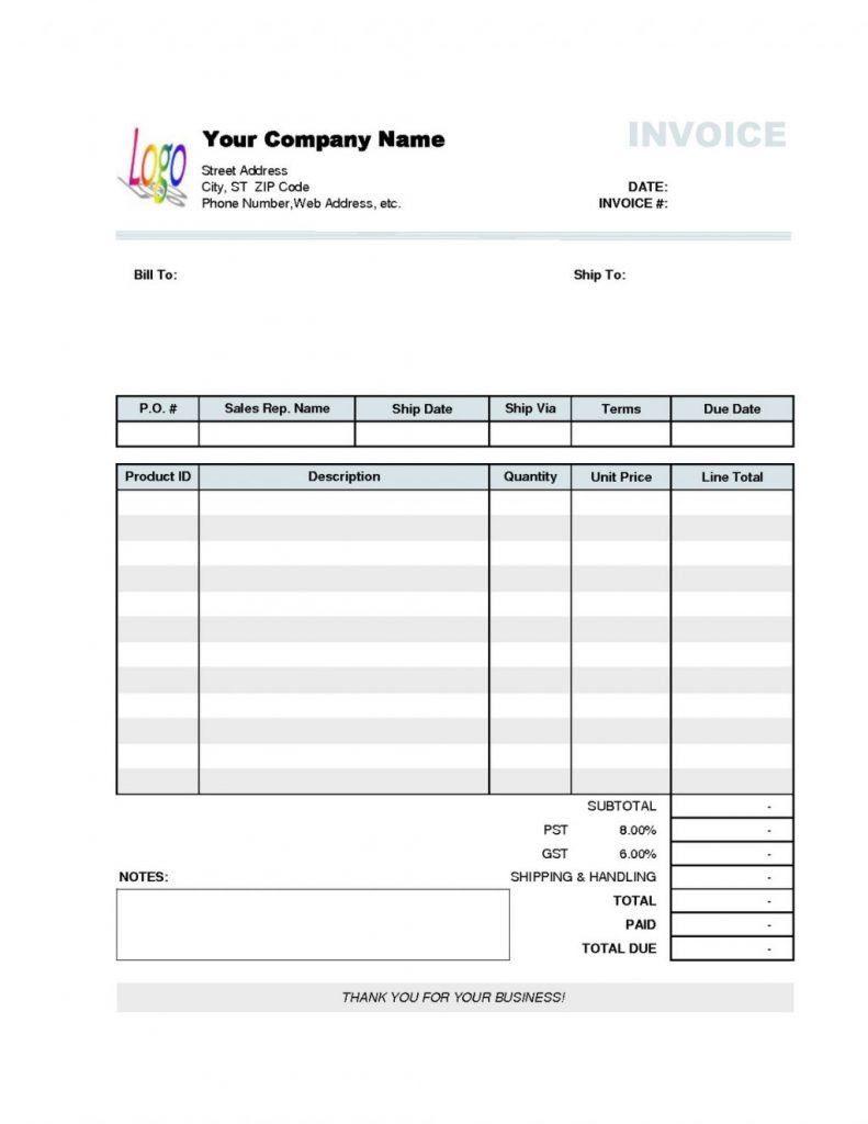 Excel Quotation Template Spreadsheets For Small Business For Sample Invoices For Small Business Invoice Examples Excel Quotation
