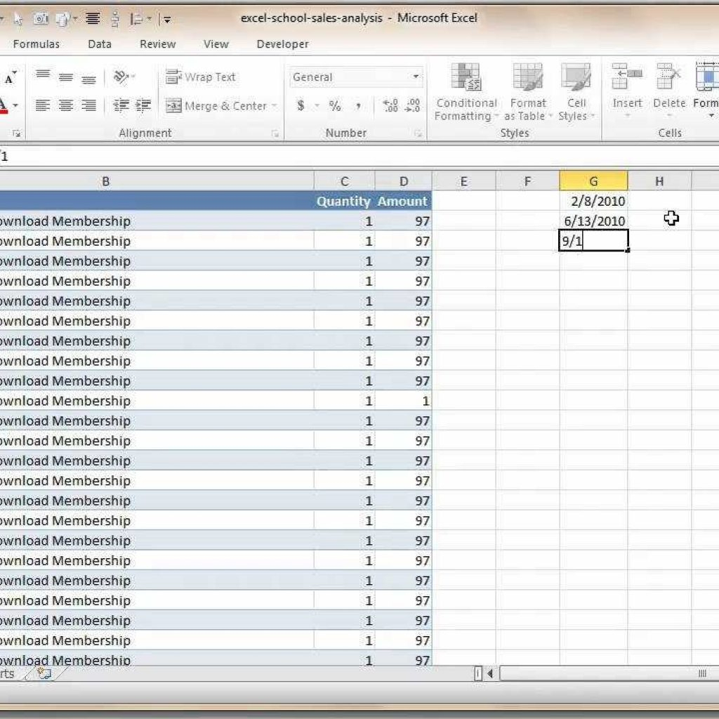 Excel Sales Analysis Spreadsheet For How To Analyze Sales Data With Excel  Youtube Regarding Data