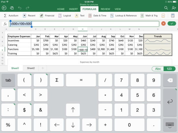 Excel Spreadsheet App Intended For Excel For Ipad: The Macworld Review  Macworld